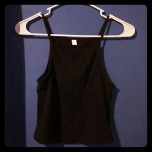 AA black cropped top
